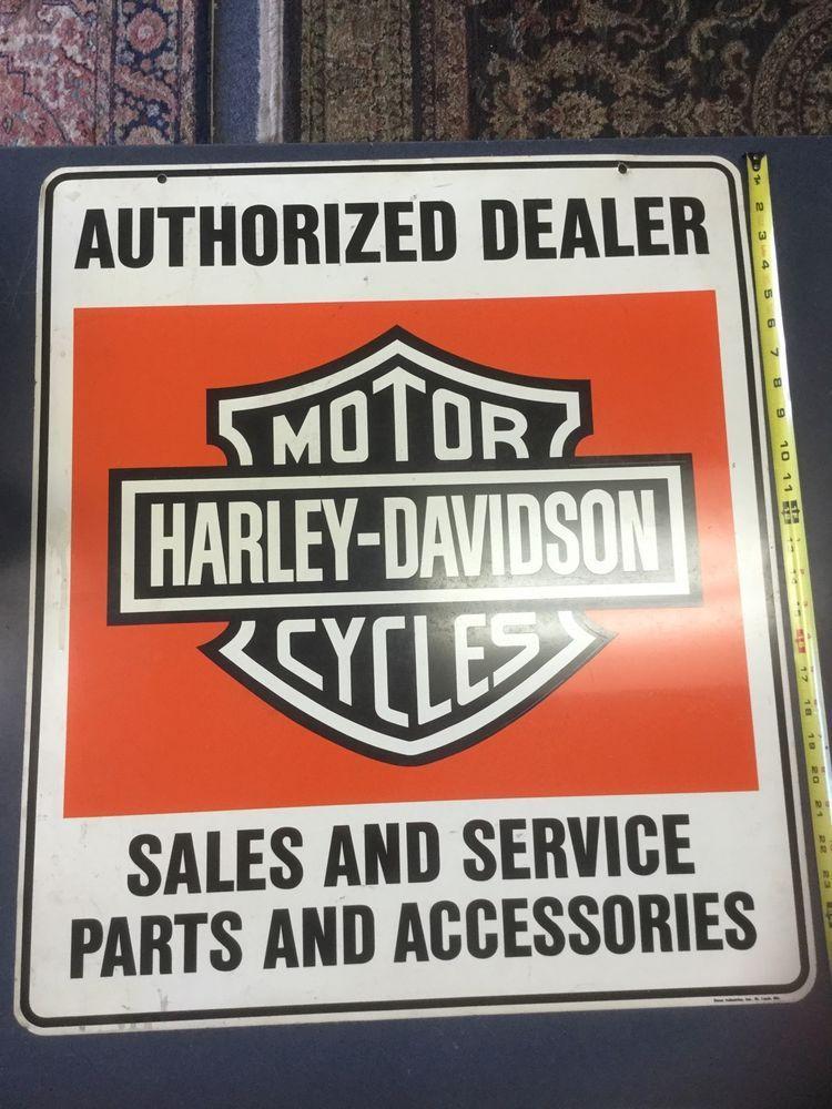 Original Harley Davidson Dealer Dealership Sign Double Sided Vintage Motorcycle Harley Davidson Harley Davidson Dealers Harley