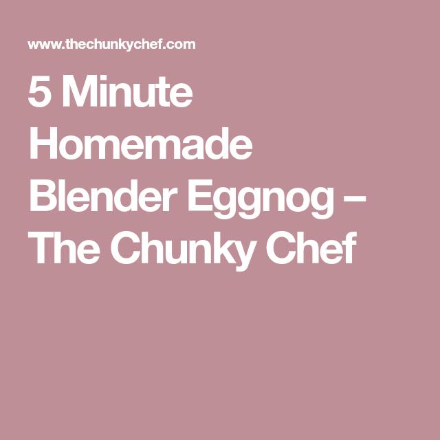 Homemade Eggnog, Eggnog