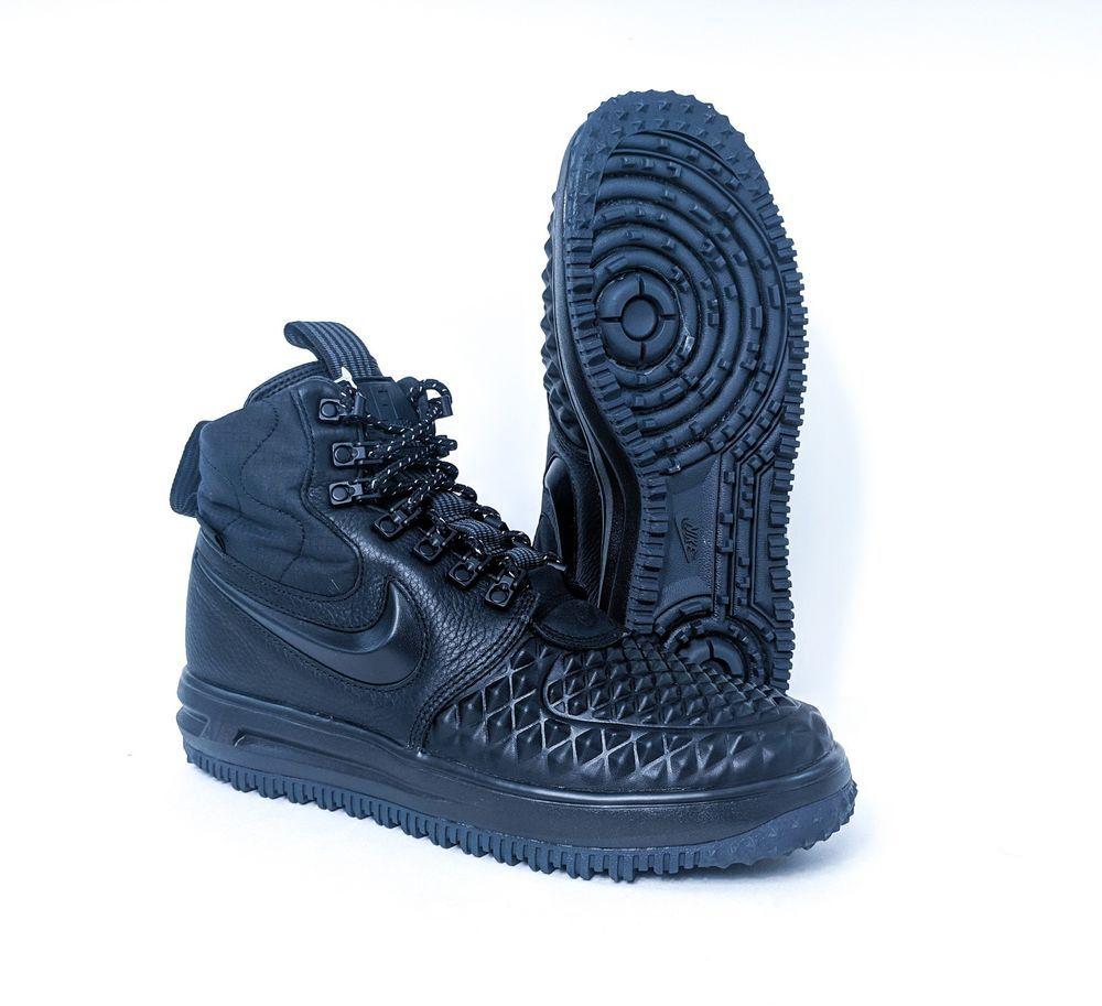 timeless design bd26b 256f2 Nike Lunar Force 1 Duckboot Black LF1 Mens Sz 8 9 916682-002 FREE PRIORITY