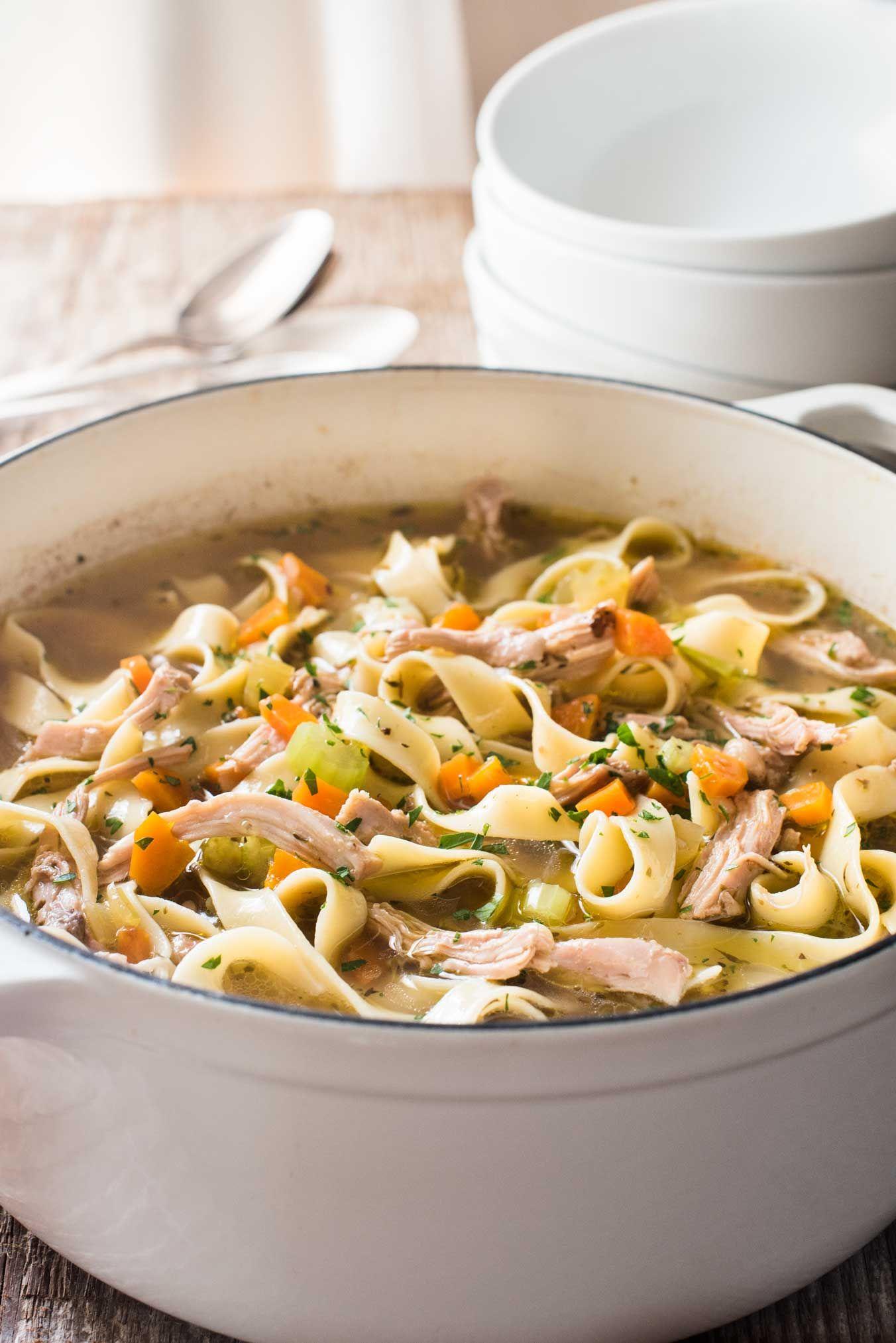 easy chicken noodle soup | recipe | vegetable noodle soup