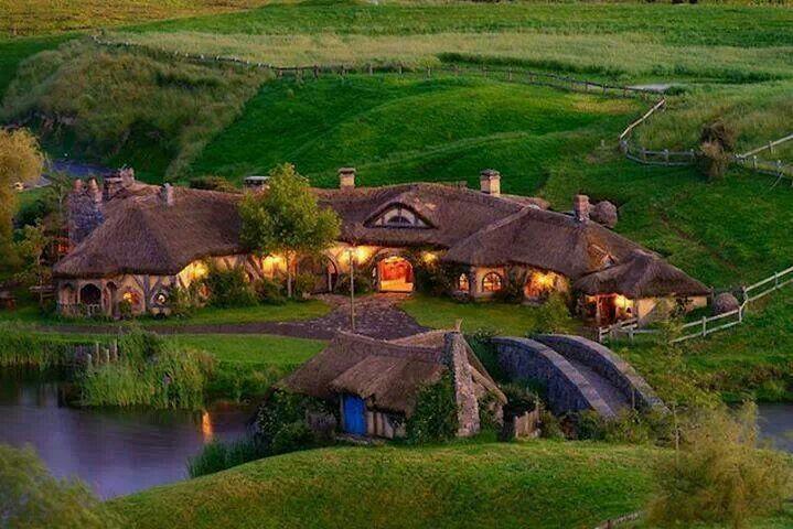 Hobbit above ground house