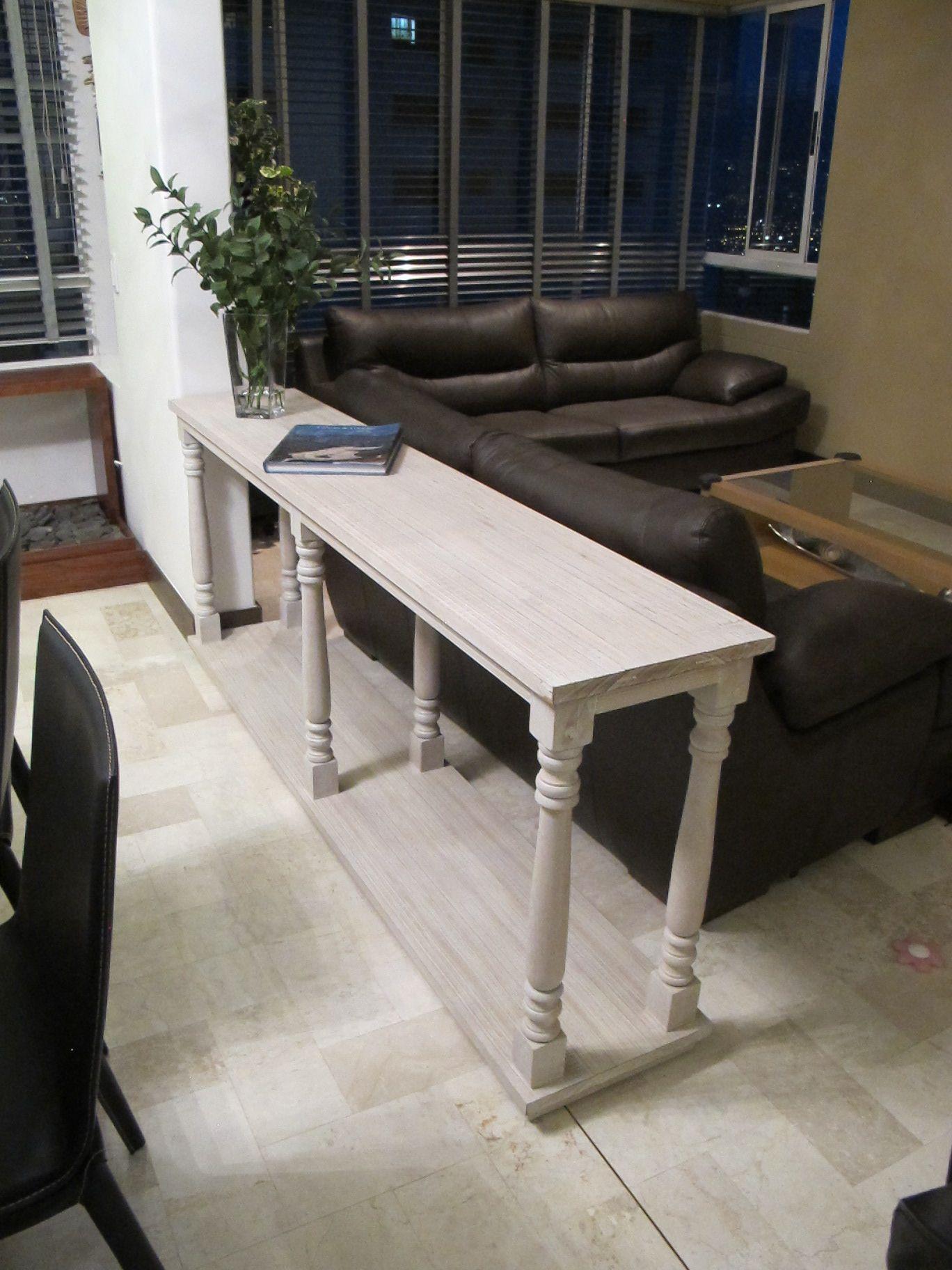 Mueble separador de espacios madera de roble acabado en for Mueble 45 cm ancho