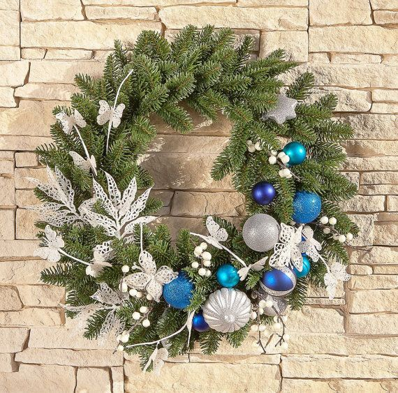 Christmas Wreath/ Front Door Christmas Wreath/ by HomeThreeSnails