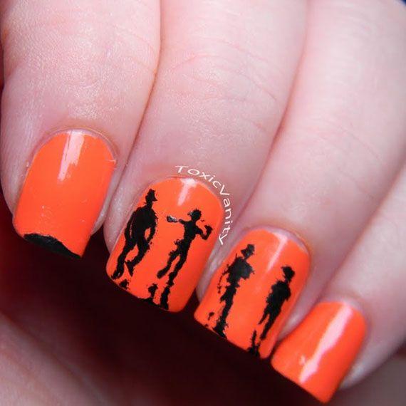 Fotos de uñas color naranja – 50 ejemplos | Orange Nails | Orange ...