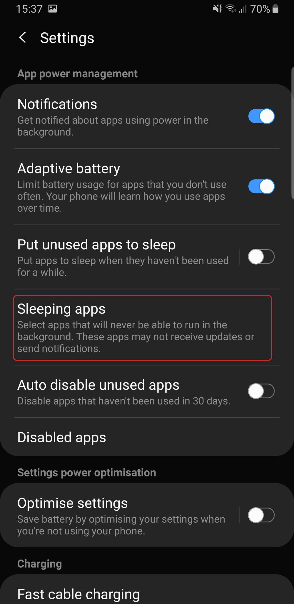 Samsung Don T Kill My App Background Process Samsung Apps List