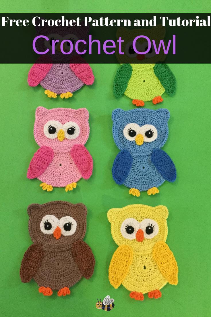 Free Crochet Owl Pattern - Crochet Animals #crochetanimals