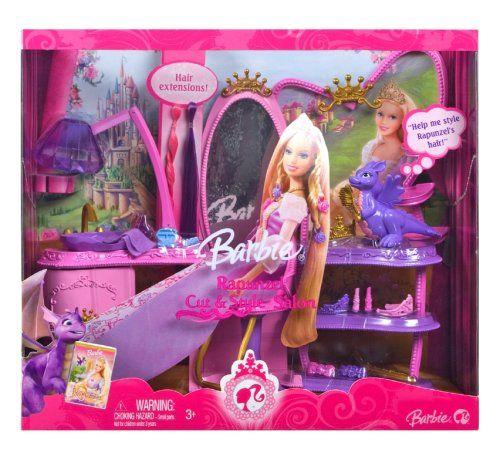 Barbie Rapunzel Hair Salon Play Set Co Uk Toys