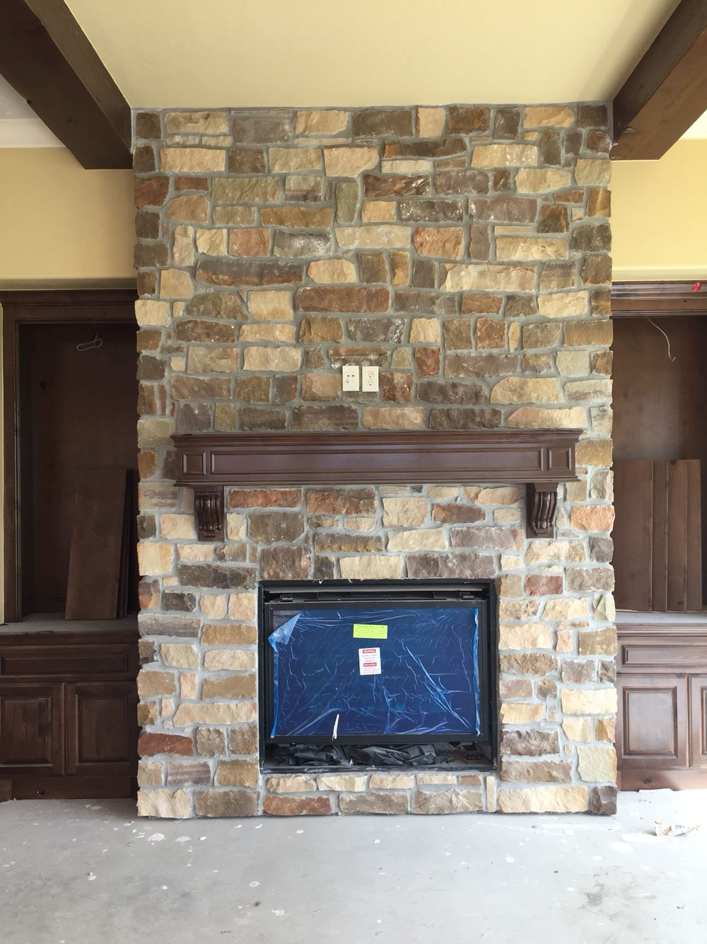 Natural Stone Fireplace Accent Walls With Stone Virginia Ledgestone Interior Projects