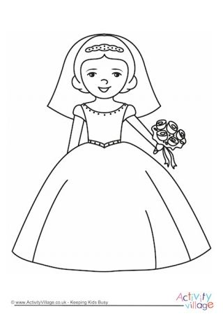 Bride Colouring Page Wedding Coloring Pages Coloring