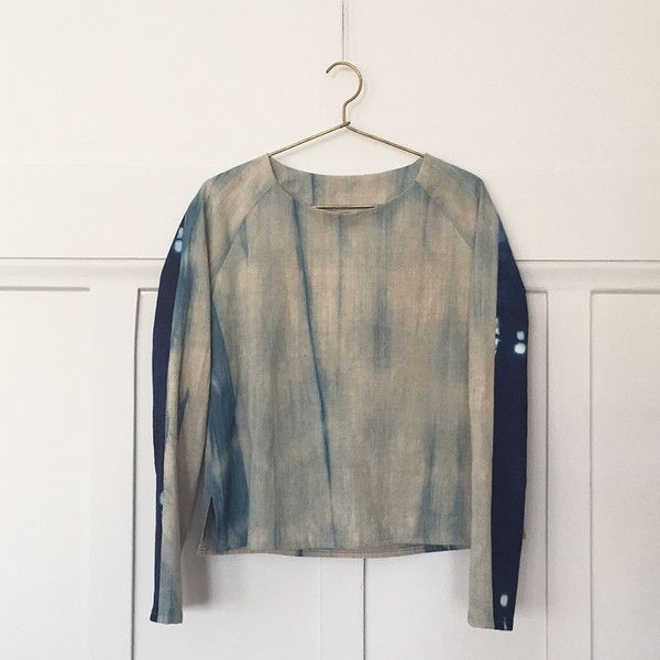 Prism Shirt. Pattern by A Verb for Keeping Warm. Broadcloth from Japan. 100% Organic Vresis Cotton. Indigo dyed.