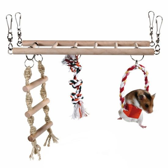 I bought this for a past hamster and she loved it - shame my new cage is too low to hang it up again though.