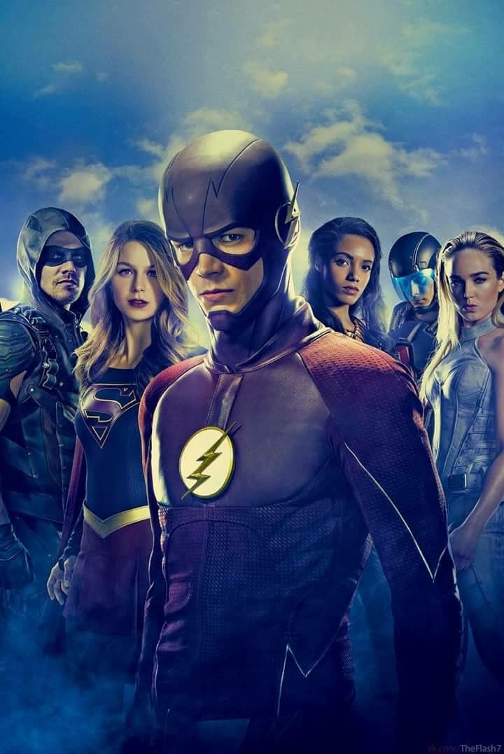 Awesome Poster Featuring The Cast Of Flash Supergirl Arrow And DC Legends Tomorrow