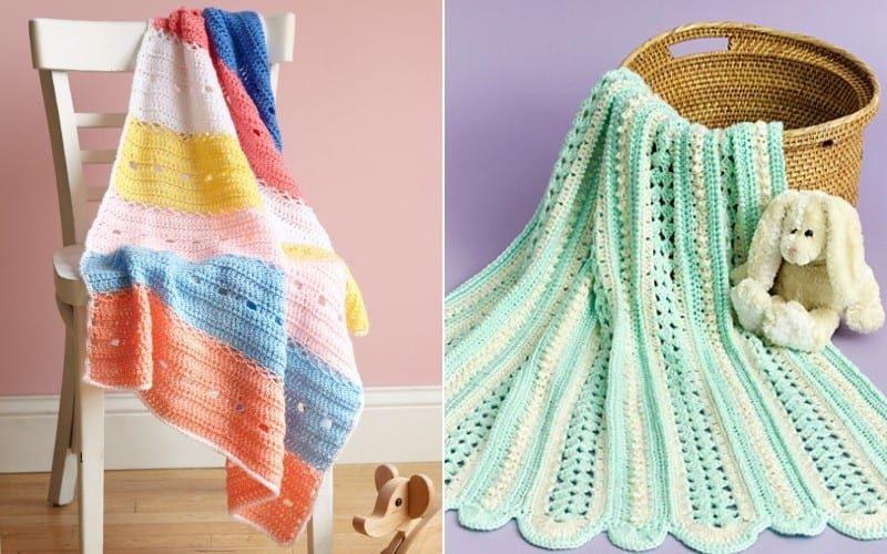 Colorful Panels Baby Blankets in 2020 | Baby crochet ...