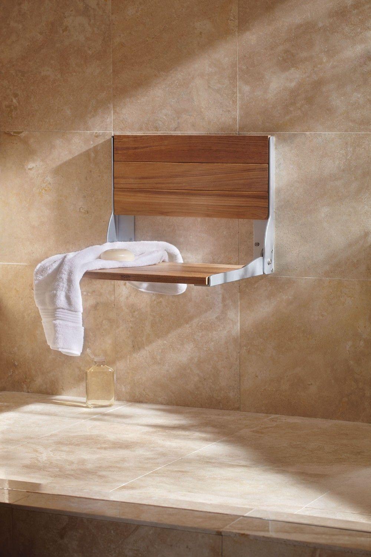 Moen Home Care Teak folding shower seat -- DN7110 -- Moen | Arq ...