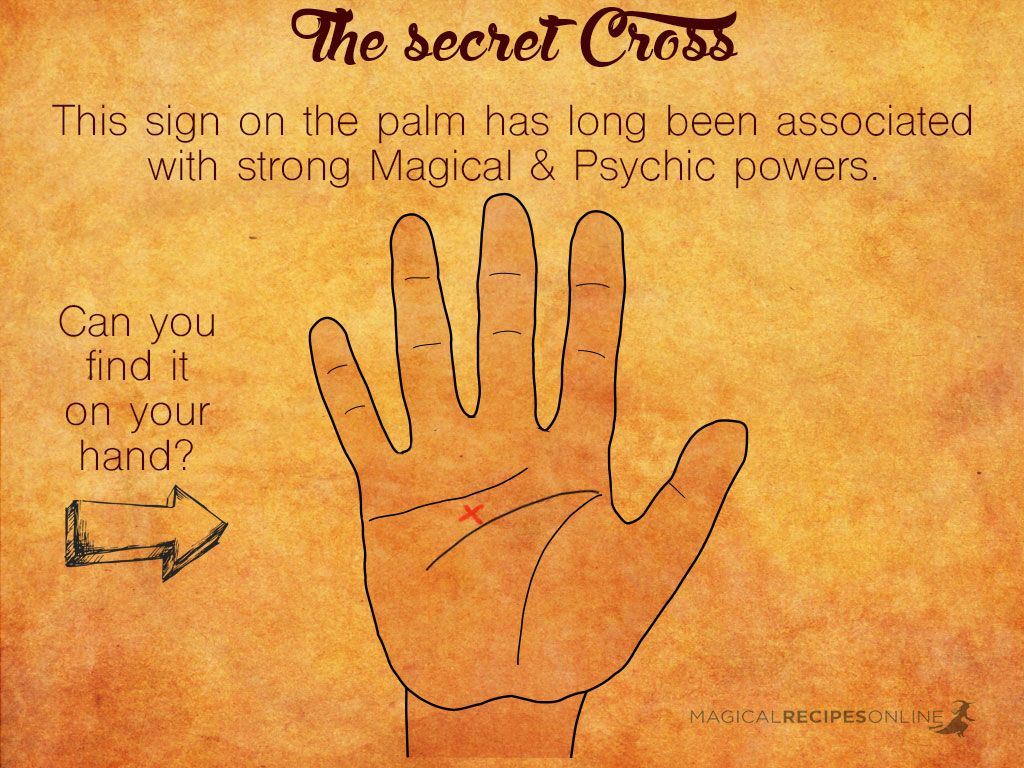 the secret cross palmistry signs you are a witch | Rosie