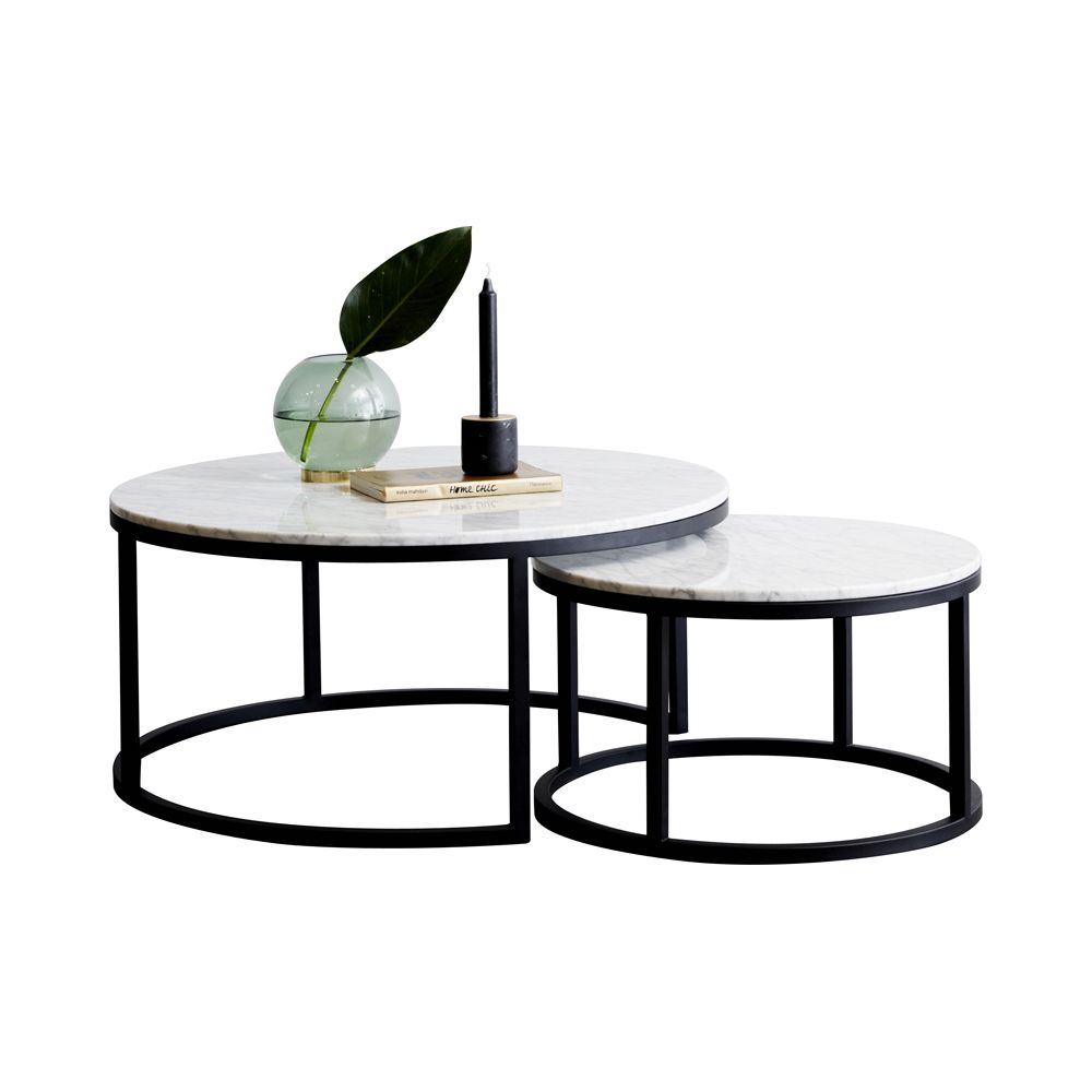 Elle Round Marble Nest Coffee Tables Coffee Table Nesting Coffee Tables Marble Coffee Table [ 1024 x 1024 Pixel ]