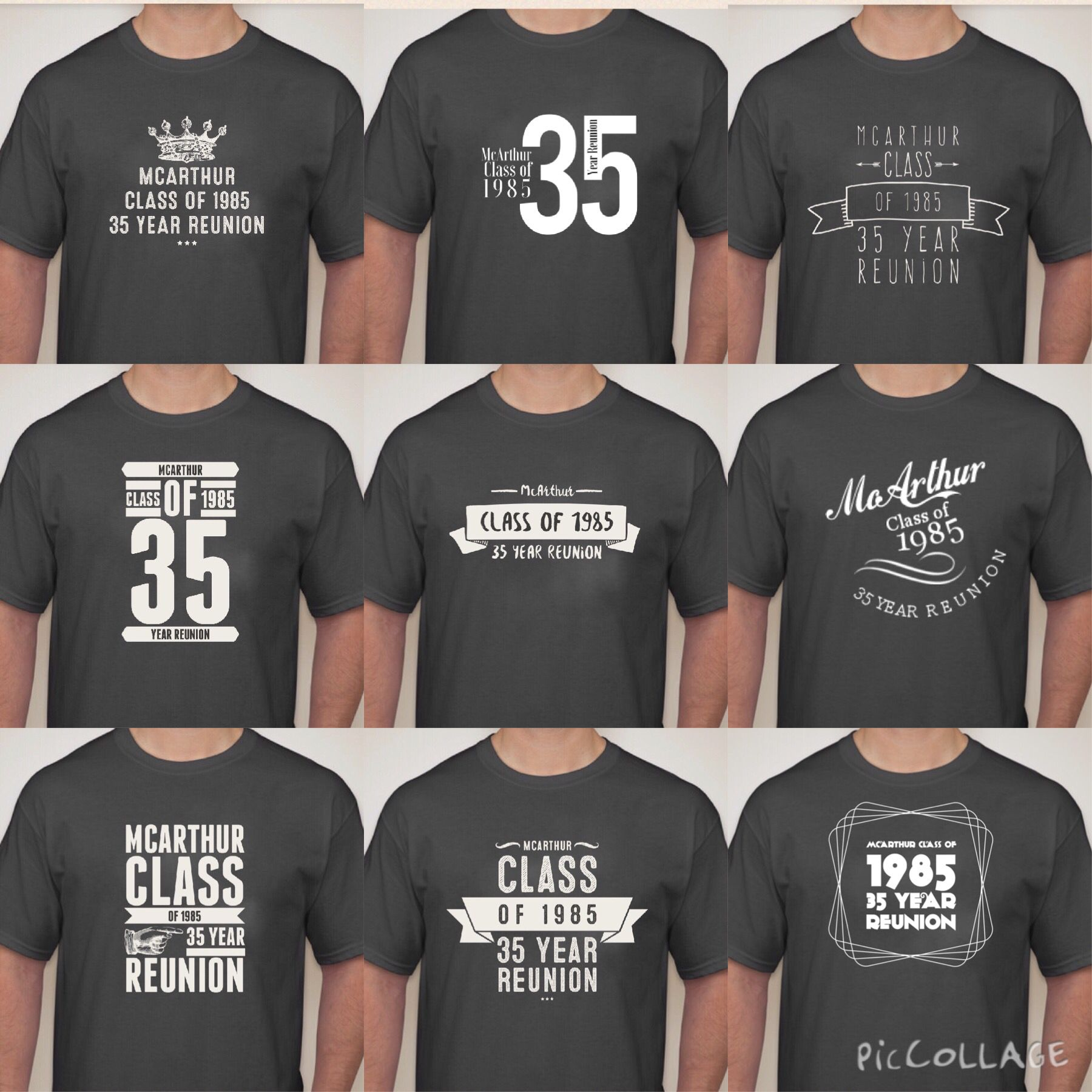 High school reunion favor Tshirt designs. 35 year reunion ...