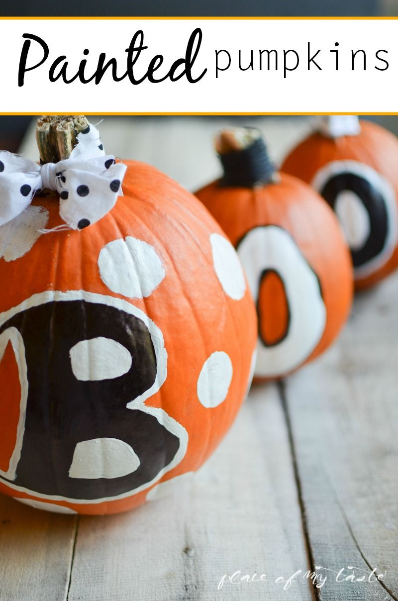 PAINTED PUMPKINS Holidays, Halloween ideas and Craft - cute halloween decoration ideas