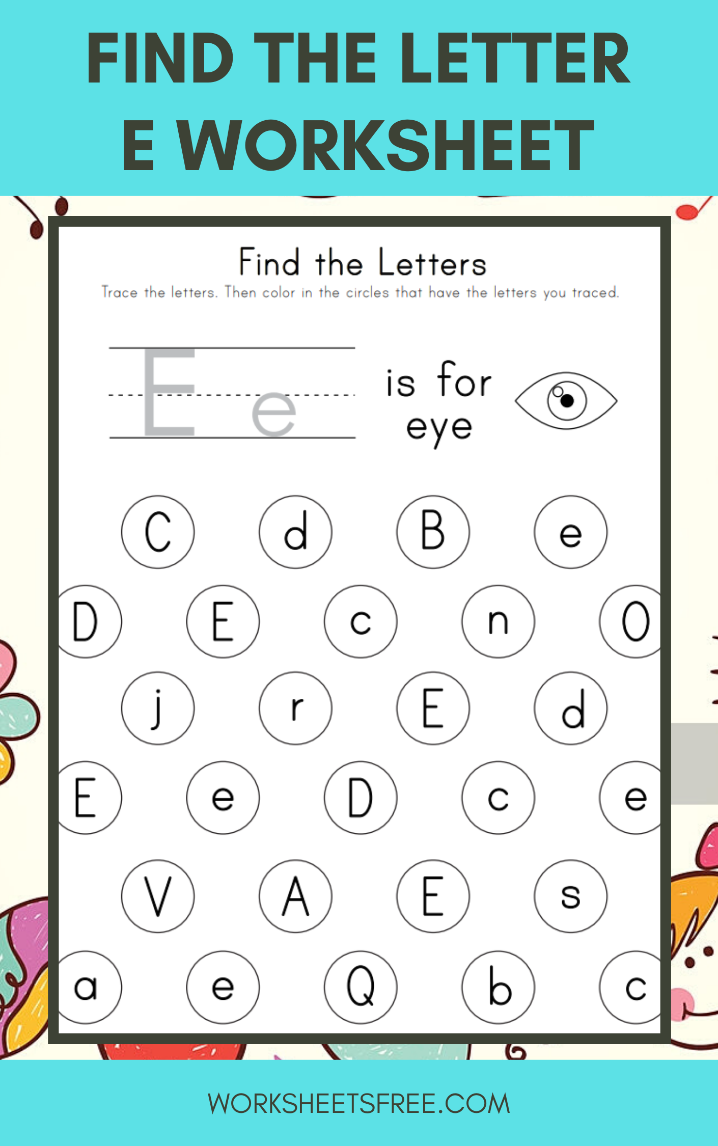 5 Find The Letters Worksheets In