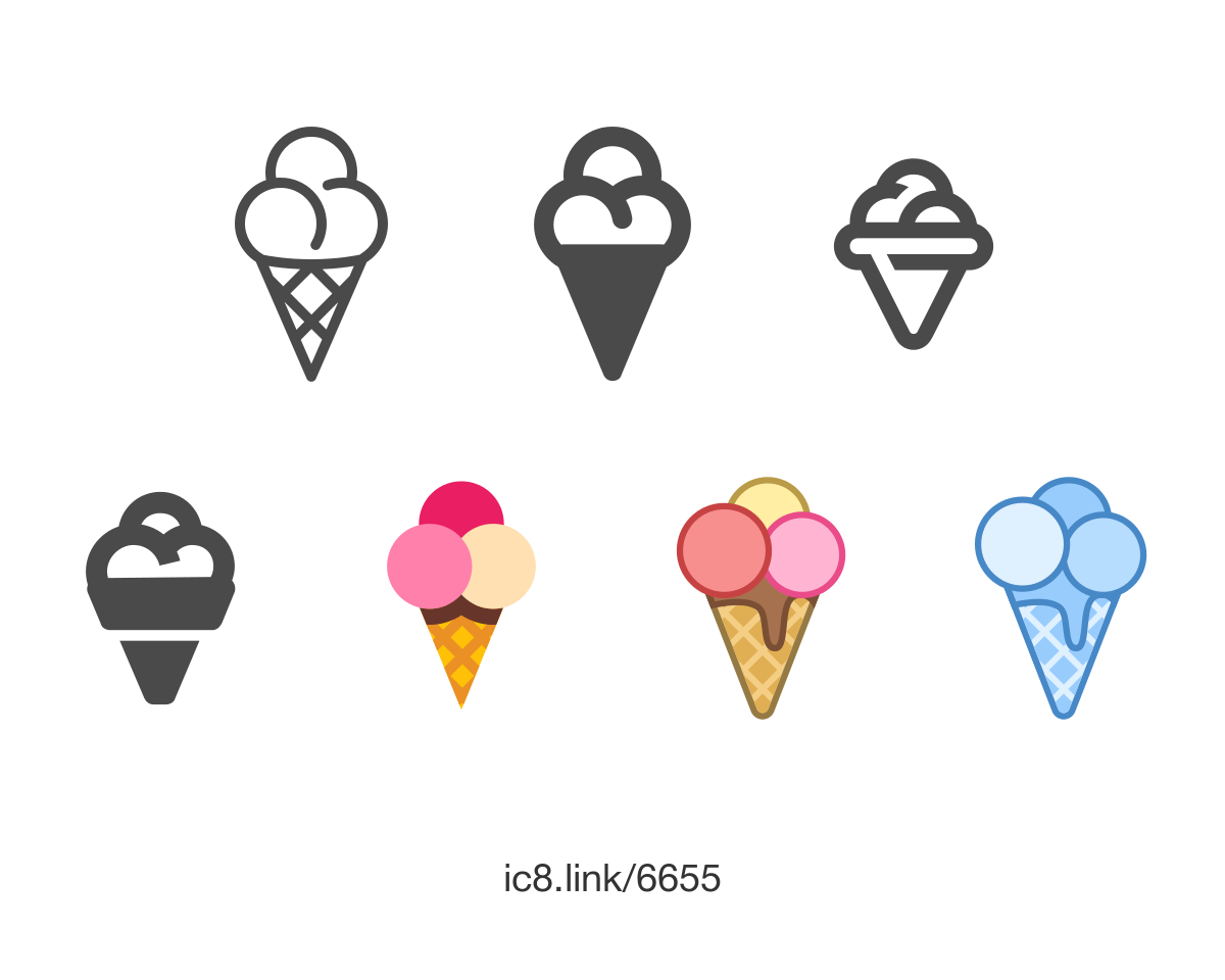 Free Flat Ice Cream Cone Icon Of Plasticine Available For Download In Png Svg And As A Font Icons Graphicde Fruit Logo Design Fruit Logo Ice Cream Cone