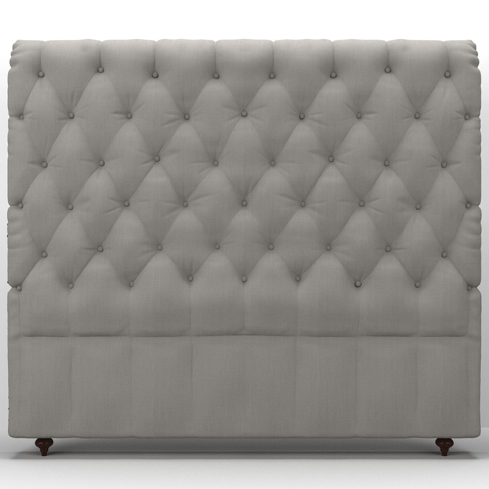 buy luxo velleria fabric upholstered headboard queen - beige