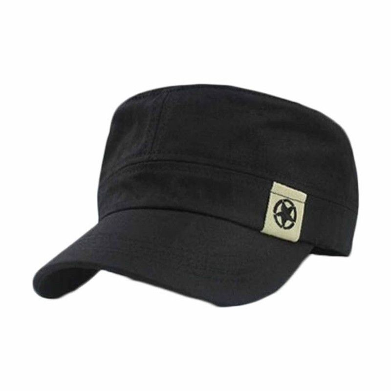e6cdfe9098e Click to Buy    New HOTFashion Unisex Flat Roof Military Hat Cadet Patrol