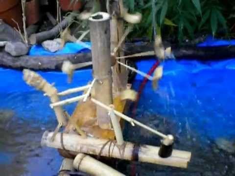 Molino para estanque de agua artesanal casero youtube for Filtro casero para estanque
