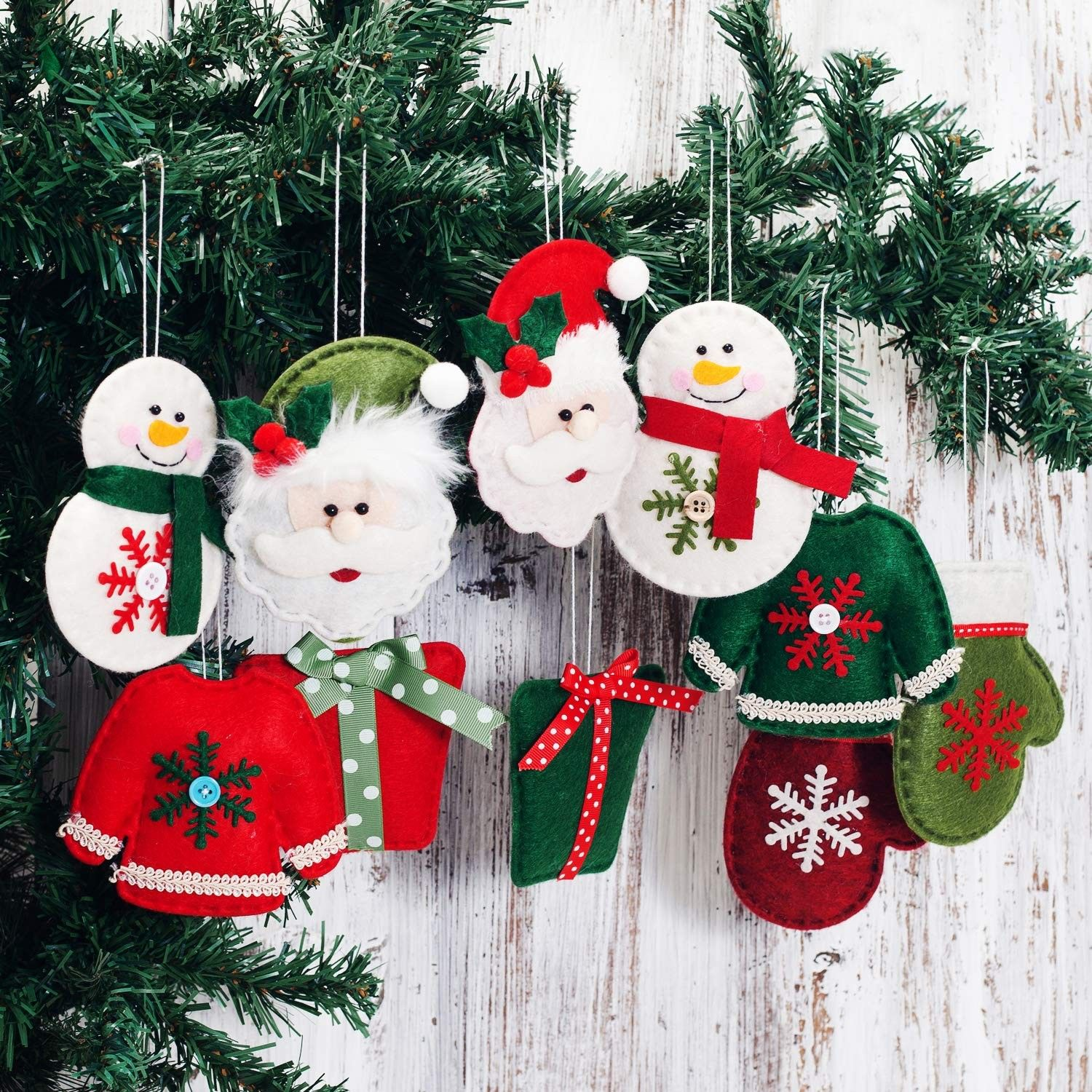 Christmas Tree Decorations Hanging Ornaments Santa Claus Gnome Snowman Pendants Home Decor Pack Of 10 Christmas Tree Decor C118kaiztwe Christmas Tree Decorations Tree Decorations Skinny Christmas Tree Decorations