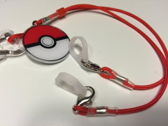 Pokemon Lanyard Hearing Aid or Cochlear Implant Clips with Silicone Loops