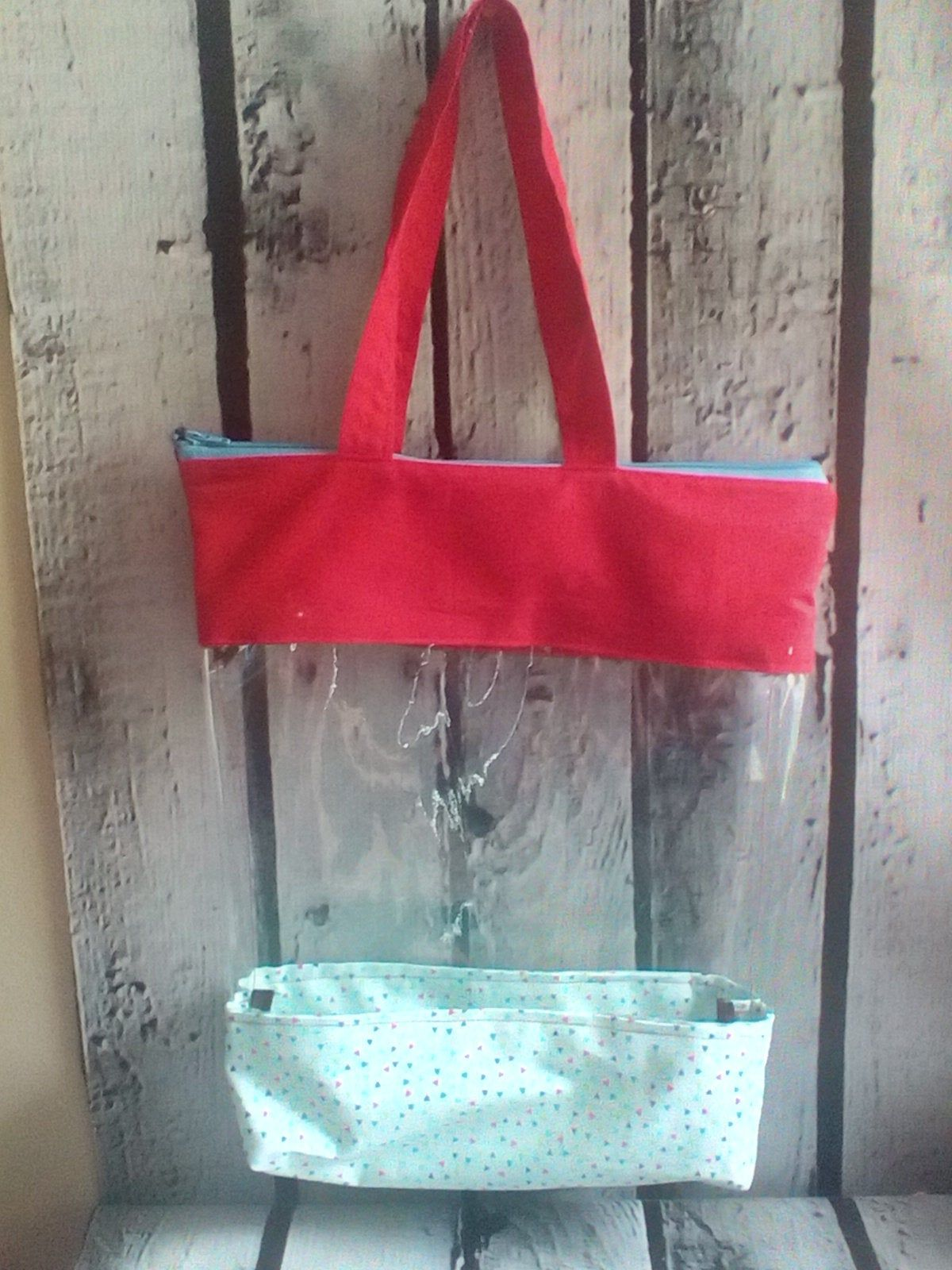 Large Vinyl Toy Bag Beach Bag Pool Tote Bag By Faithhands On Etsy Pool Bags Toy Bags Beach Bag