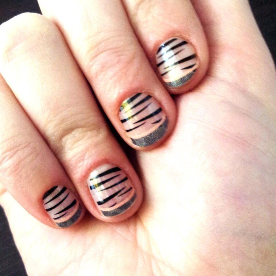 Safari French Tip Jamberry Nails Nailart Manicure Pedicure