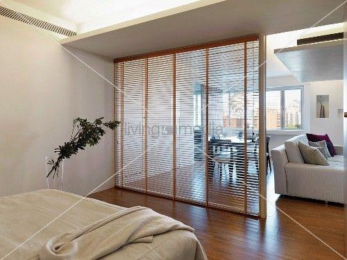 Bildergebnis f r glastrennwand wohnbereich house pinterest studio apartment decorating - Glastrennwand wohnbereich ...