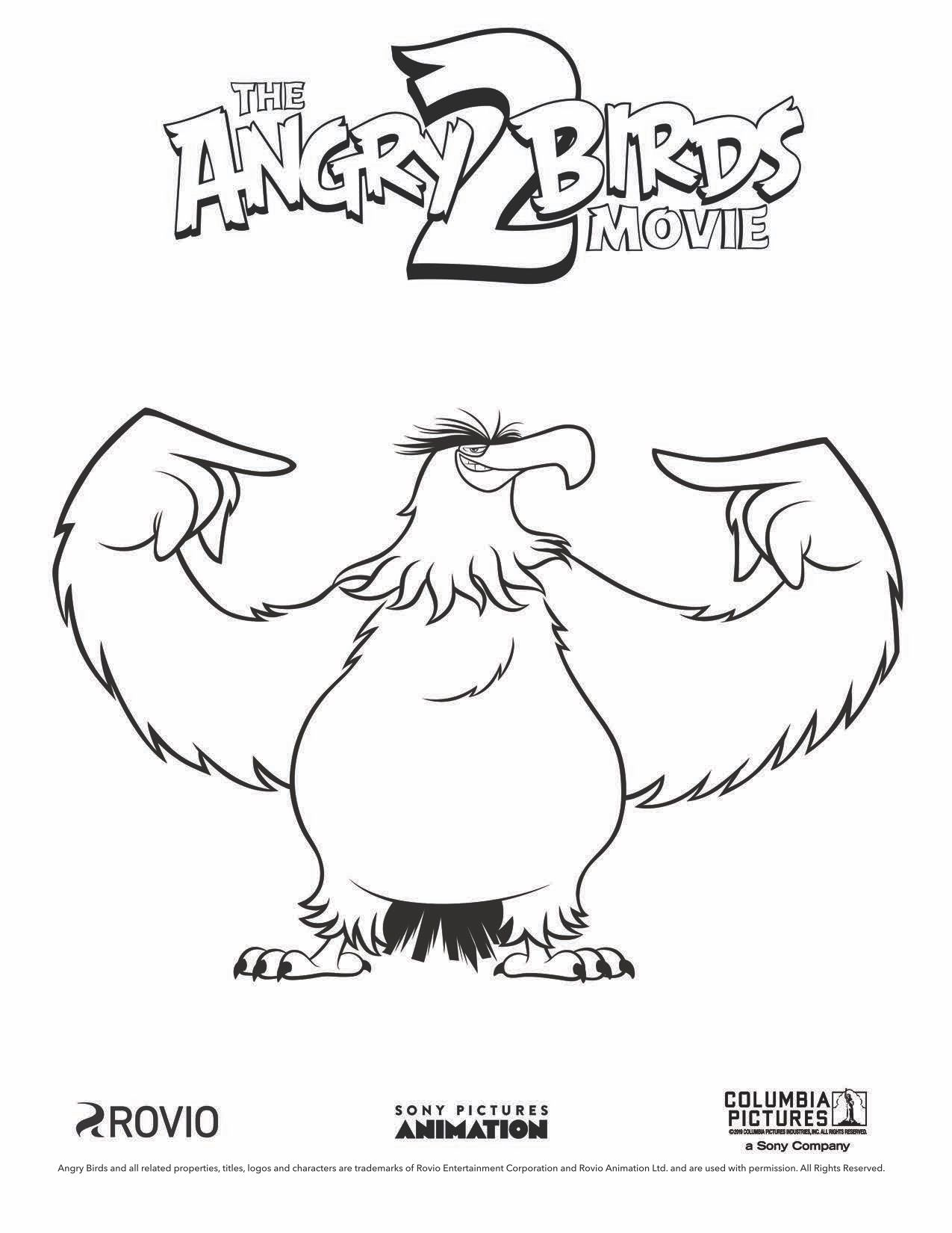 The Angry Birds Movie 2 Mighty Eagle Coloring Page Bird Coloring Pages Angry Birds Coloring Pages