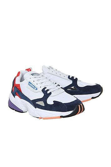 White adidas Falcon Trainers by Office