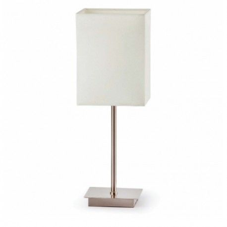Lampe De Buffet Abat Jour Blanc Thana Faro Lampe De Table