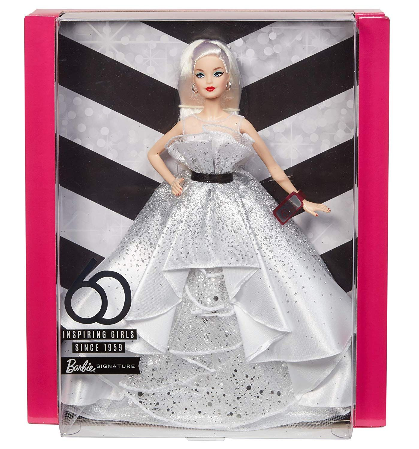 218a8430a34 Amazon.com  Barbie 60th Anniversary Doll  Toys   Games