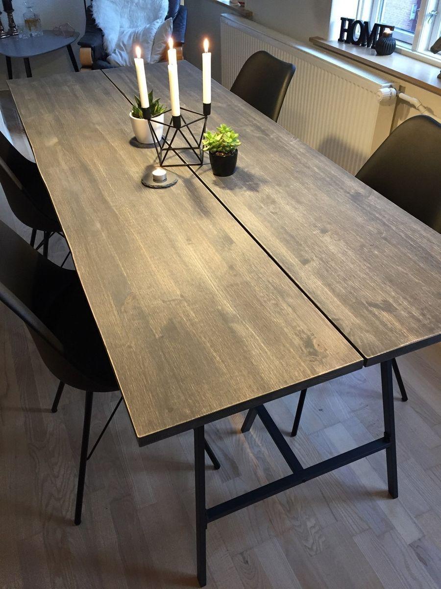 rustik planke spisebord