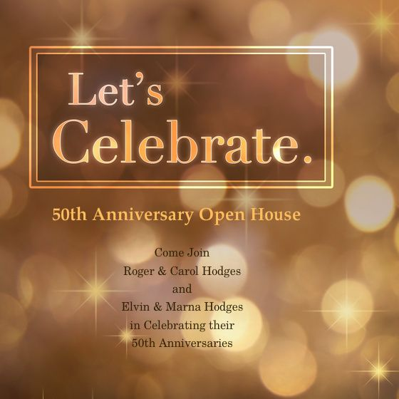50th wedding anniversary open house invitations 50th Anniversary - open house templates