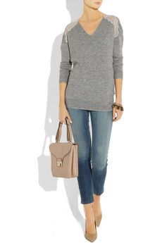 Rebecca Taylor lace trimmed sweater