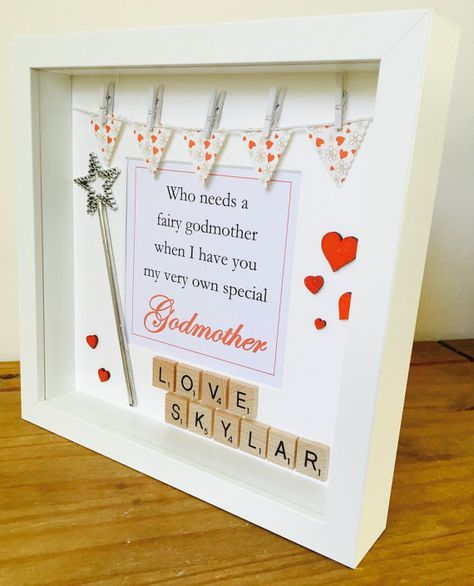 Godmother Frame, Personalised Godmother Gift, Happy Godmother Frame ...