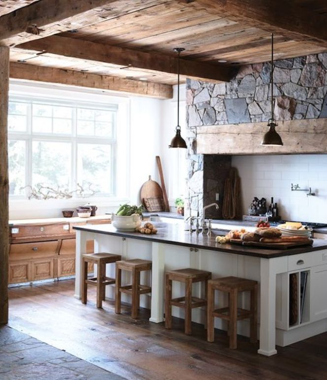Maher Kitchen Cabinets: Design Trend: Modern Rustic Stone KitchensBECKI OWENS