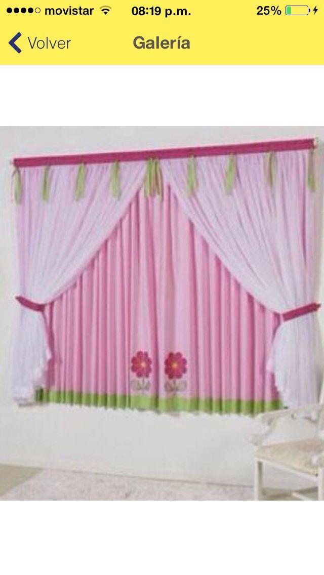 Cortinas para cuarto de nena | cortinas libdas. | Pinterest | Cuarto ...