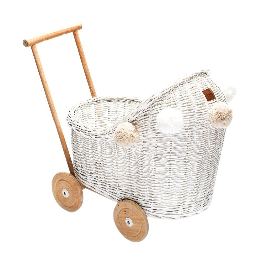 Wicker Dolls Pram White (Arriving November) Dolls