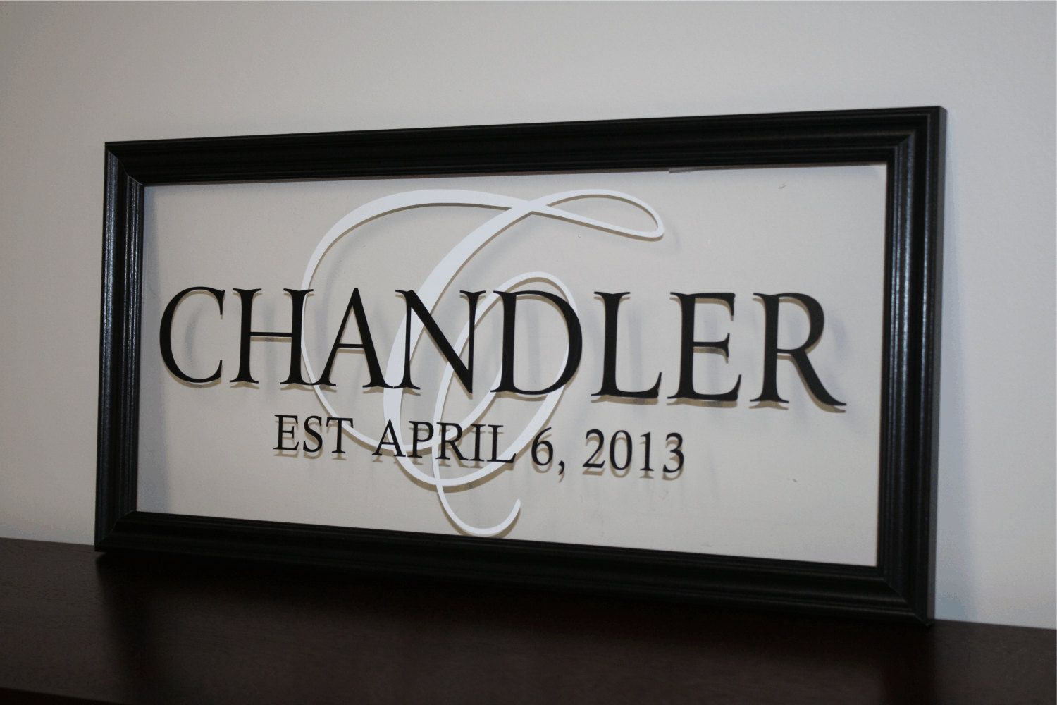Personalized Family Name Sign Picture Frame by wallartsy