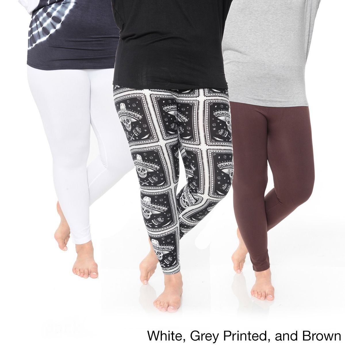 White Mark Women's Plus Size Legging