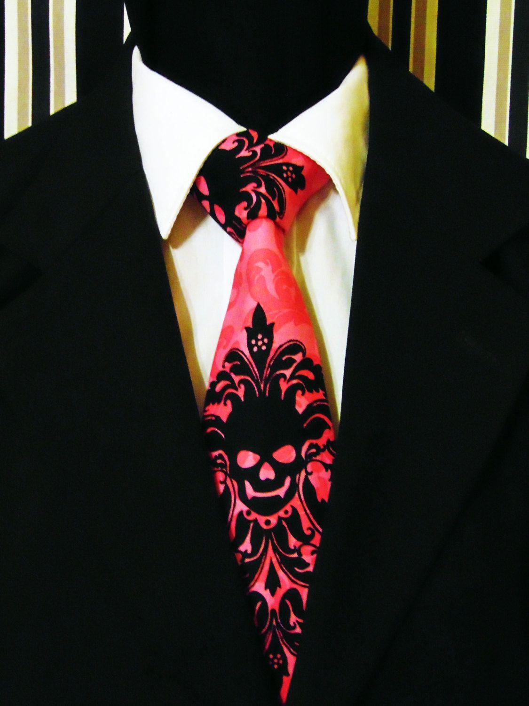 b1870c679f63 Skull Necktie, Skull Tie, Pink Skull Necktie, Pink Skull Tie, Black Skull  Necktie, Black Skull Tie, Mens Necktie, Mens Tie, Gothic, Goth, To by  EdsNeckties ...