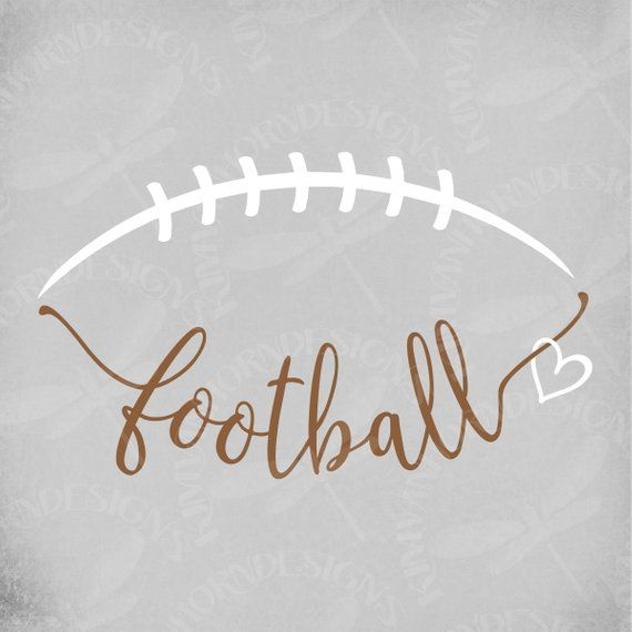 Football svg, Football Laces svg, Football Heart s