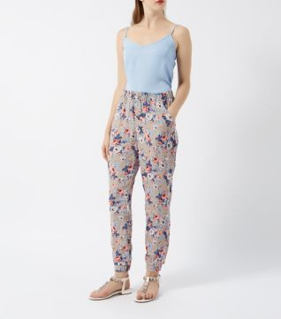 Cameo Rose Grey Floral Print Trousers