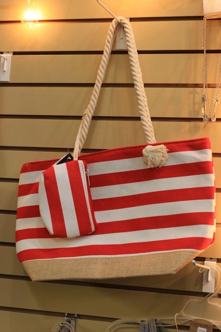 Nautical Stripes Fashion Tote