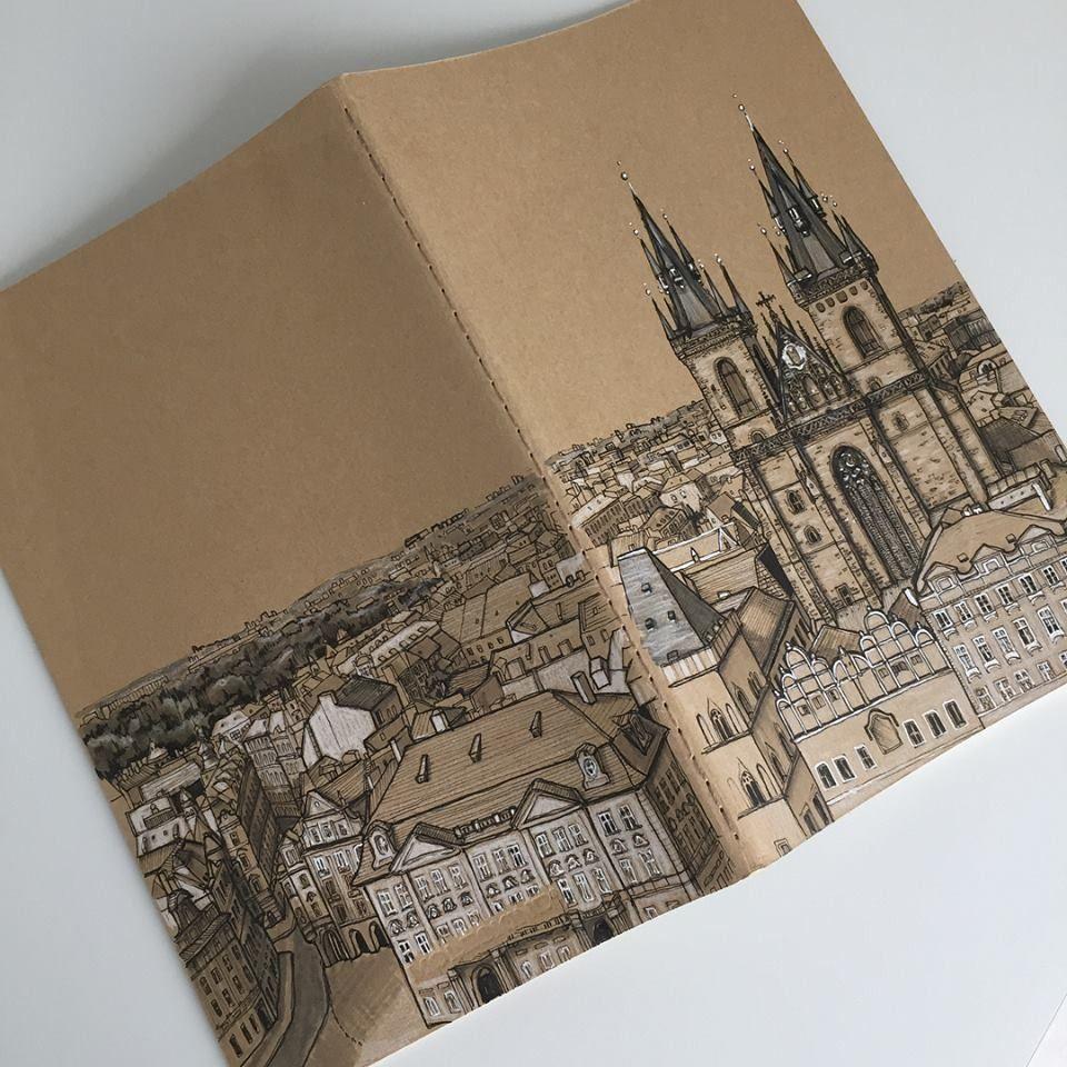 Cityscape Sketchbook Cover Sketch Book Sketchbook Cover